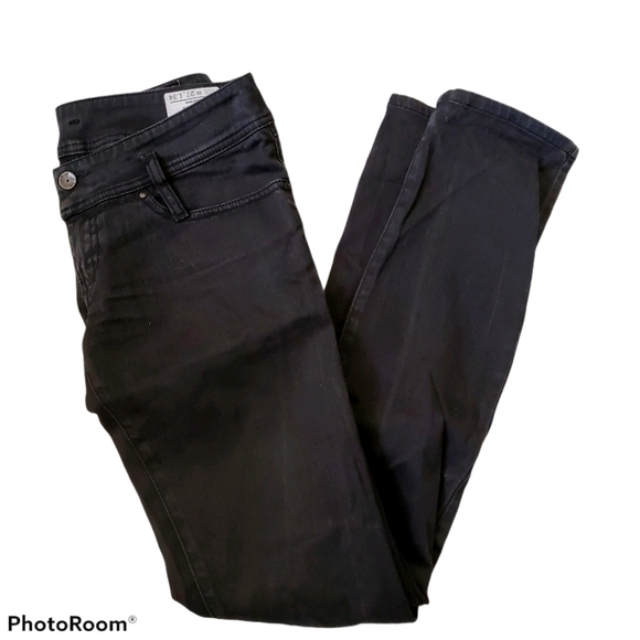 Diesel matic black coated denim straight jeans w27